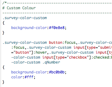 CSS source code